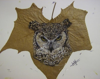 art,print,digital,leaf,drawing,animal,hand crafted, buho, nature