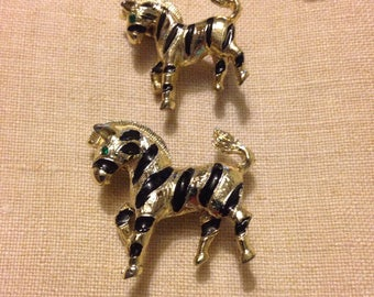 Zebra Scatter Pins Adorable Unsigned