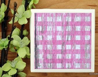 Coasters - Drink Coasters - Tile Coasters - Ceramic Coasters - Ceramic Tile Coasters - Coaster Set - Table Coasters - Pink Coasters