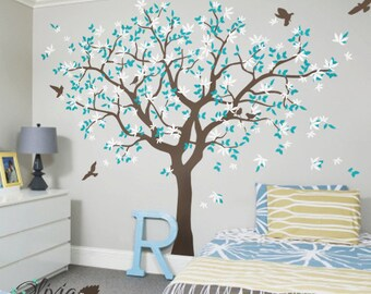 Family Tree Vinyl Wall Decal with Bird Stickers - NT040