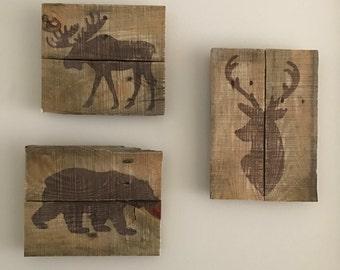 Wildlife Wall Art, Deer Wall Art, Deer Art, Bear Art, Bear Wall
