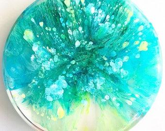 Resin Petri Dish Alcohol Ink (#10)