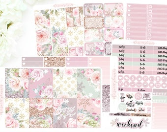 SNOWY FLORAL | 6 Page Sticker Kit | PREORDER | ECLPVertical