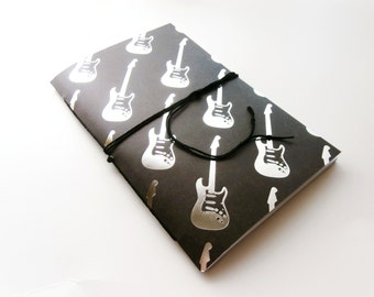 Guitar Notebook, Writing Journal, Lined Notebook, Guitar Journal, Dot Grid Cahier, Personalized Journal, Custom Notebook, Musician Gift