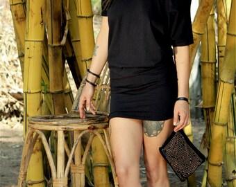Little Black Dress, Minimalist Dress, Black Minimalist Dress, Casual Dress, Casual Long Top, Simple Dress, Little Black Dress With Sleeves