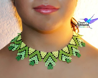 Neon-necklace-handicraft Choker necklace Mexico Mexican-jewelry