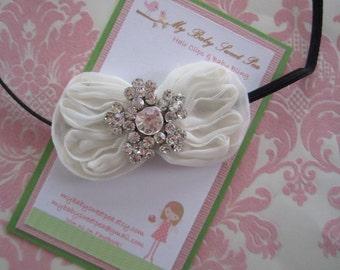 Infant headbands - baby headbands - christmas headbands - winter headbands - bow headbands