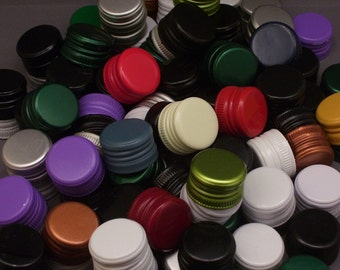 100 Assorted Reclaimed Twist Bottle Caps From Wine and Liquor Bottles
