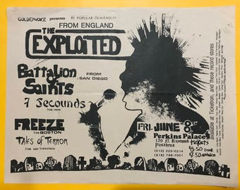 The Exploited original flyer - 1984 - vintage