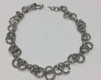 925 Sterling Silver Statement 'Circles' Bracelet