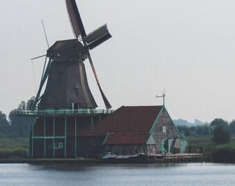 Windmill Photography, Gray, Germany, Lake, Mist, Morning, Beautiful, Architecture