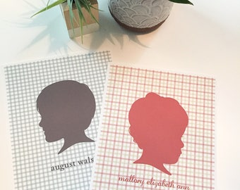 EXTRA PRINTS of Custom Silhouette Portrait, Personalized Profile Print, Custom Mother's Day gift, modern silhouettes, head profile