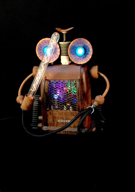 Steampunk Lamp Assemblage Sculpture