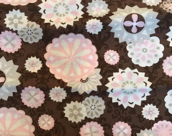 Brown , Taupe and Pink Fabric Bundle