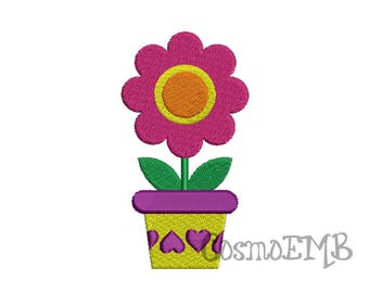 5 Size Flower Embroidery design  Machine Embroidery - Digital INSTANT DOWNLOAD