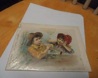 Vintage 1893 Lion Coffee Advertisement in plastic, collectable, paper, playing instrument