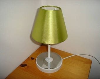 light green disco and recycled cd foot