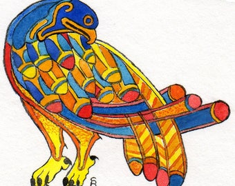 Inspired by the book of Kells bird