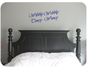 Wibbly wobbly, timey wimey- Doctor Who, wall decal