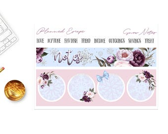 FIRST SNOW Notes Page Sticker Set