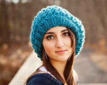 Instant Download Knitting Pattern - Womens Hat Pattern - Knit Hat Pattern for Odessa Beret - Womens Beret Pattern - Womens Accessories