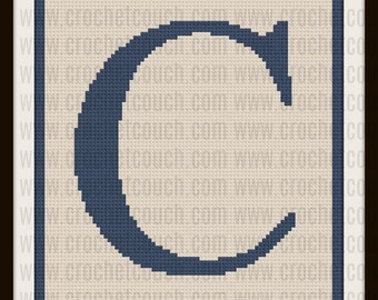 C2C Graph, Letter C, Twin Size, C2C Graph, & Written Word Chart
