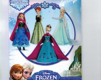 Doll Sewing Pattern Simplicity S0734 Frozen Elsa Anna Disney Princess 11 1/2 Inch Barbie Doll Fashion Size UNCUT