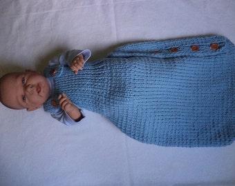 Sacco a pelo a maglia bambino sacco a pelo 60 cm in lana merinos