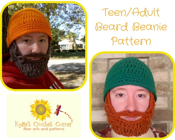 Teen Lumberjack Crochet Pattern, Teen Beard Hat Crochet Pattern, Mens Beard Beanie Crochet Pattern, Mens Beard Hat Crochet Pattern