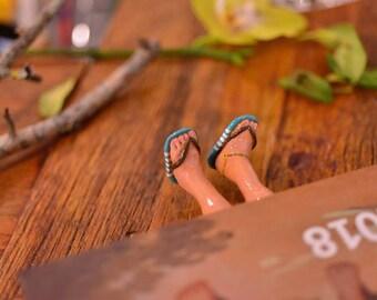 Beach Sandals Flip Flops BookMark - Handmade