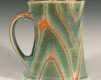 Green and Orange Coffee Mug