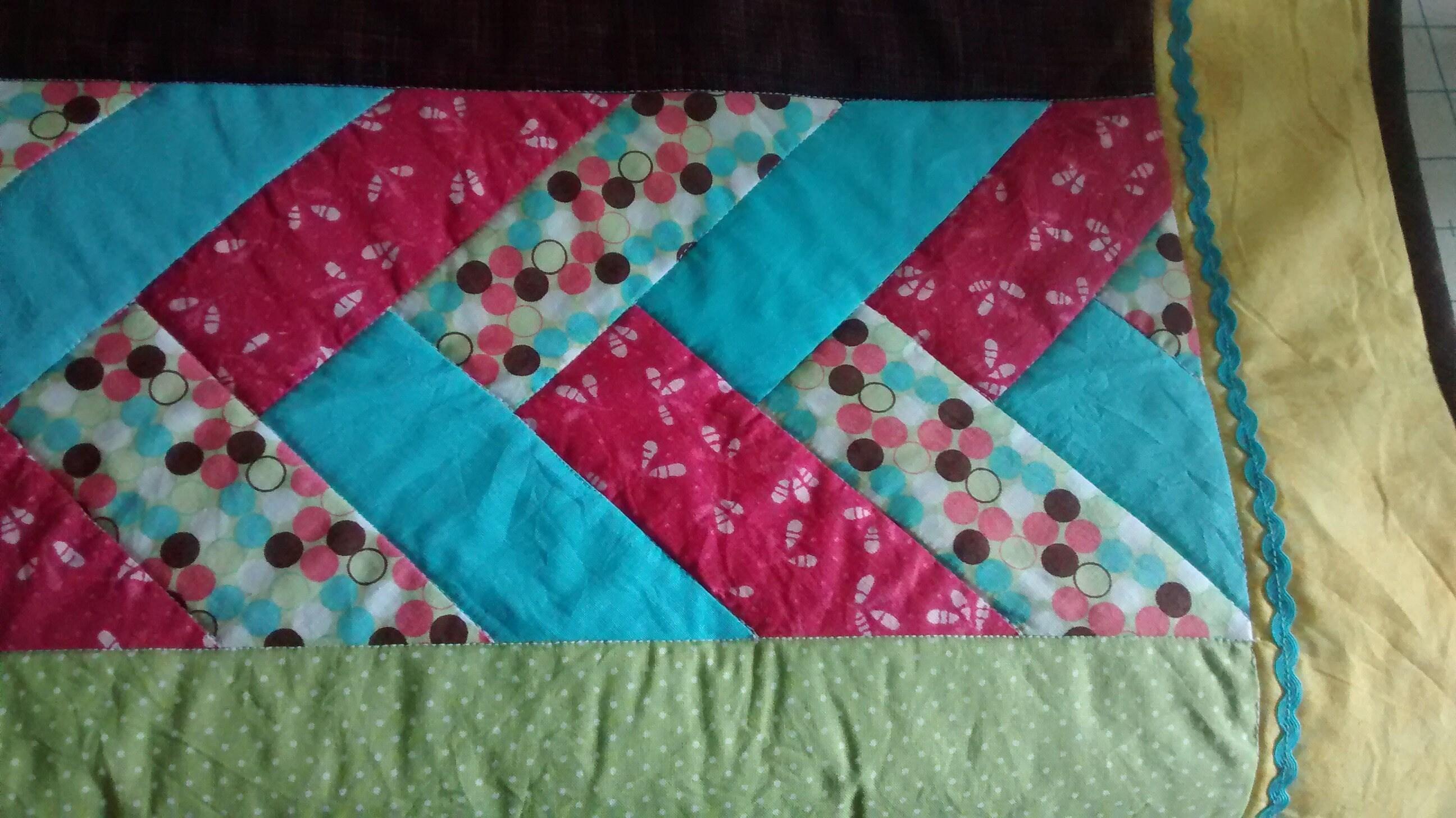Friendship Braid Quilt Baby Quilt Crib Size Handmade