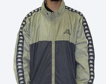 Vintage Kappa Repeat Logo Fleece Lined Jacket Size XXL