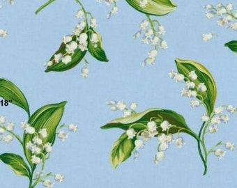 Lilies of the Valley Color Cornflower, Fabric Printed Decorative Home Decor