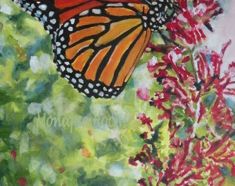 "Fine Art Print ""Monarch"" of oil painting"
