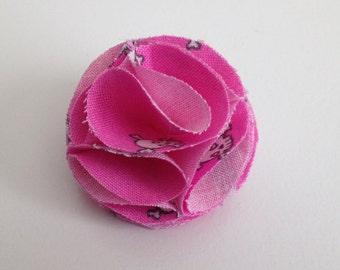 Pink Skull Lapel Flower, Lapel Pin