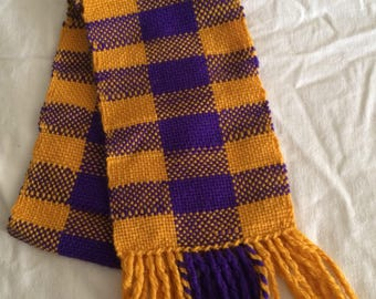 Scarf, Purple and Gold