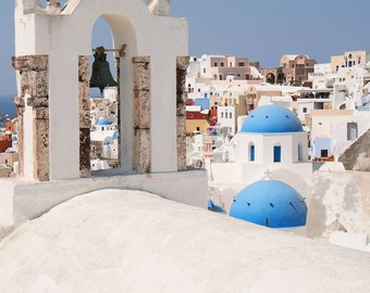 Greece Photography - Santorini Print - Greek Islands Photo - Oia Photography - Travel Photography - Blue and White - Mediterranean Wall Art