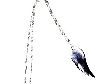 Polished Boeing 737 aircraft skin charm and necklace
