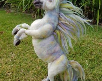 Large size Needle felted unicorn