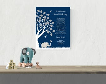 Boy Christening Gift | Baptism Gift For Godson | Christening Poem | Godson Gift | Christening Gift For Boys - 55077