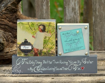 """The Only thing better than having you as my sister..."""" Set of blocks by Ladybug Design by Eu"""
