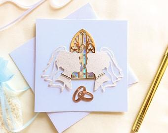 You May Kiss the Brides - Lesbian Wedding Card