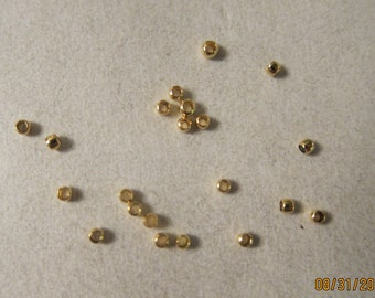 2x1.5mm, Gold-Plated Brass, Crimp Beads - Available in 100, 200, 300 & 500 Crimp Pkgs and also in Larger Pkgs