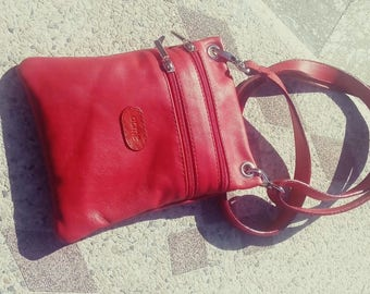 Leather purse, leather Little Bag, handmade, made in Italy