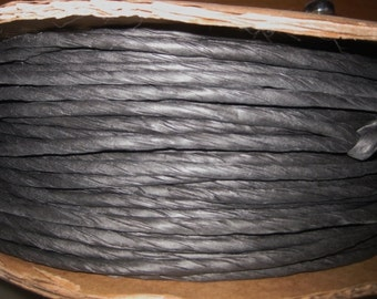 10 Yards of Black Twisted Paper Cord/Ribbon