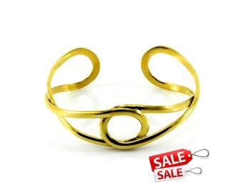 Simple Gold Cuff Bracelet Simple Gold Bracelet Cuff Simple Gold Brass Cuff Bracelet Simple Gold Brass Bracelet Cuff 108
