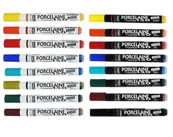 Pebeo Porcelaine 150 Oven-Fix Dishwasher Safe Ceramic Paint Marker Pens