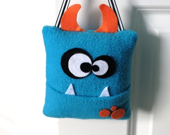 Monster Tooth Fairy Pillow- Blue