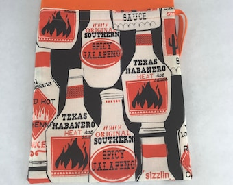 Spicy BBQ - Knitting, Crochet or Fiber-work Project Bag